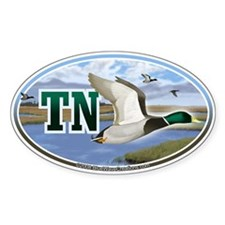 TN Tennessee Mallard Ducks oval car bumper sticker