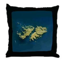 Cute Falkland islands Throw Pillow