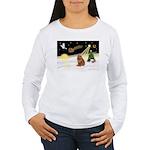 Night Flight/Chow #2 Women's Long Sleeve T-Shirt