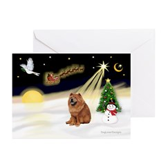 Night Flight/Chow #2 Greeting Cards (Pk of 10)