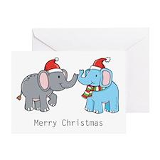 Elephant Christmas Greeting Card
