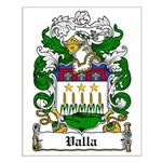 Valla Family Crest Small Poster