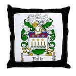Valla Family Crest Throw Pillow