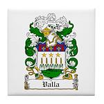 Valla Family Crest Tile Coaster