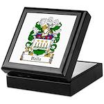 Valla Family Crest Keepsake Box