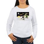 Night Flight/Bull Mastiff Women's Long Sleeve T-Sh