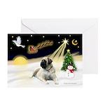 Night Flight/Bull Mastiff Greeting Card