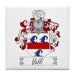 Valli Family Crest Tile Coaster