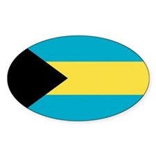 Bahamas Flag Oval Sticker (10 pk)