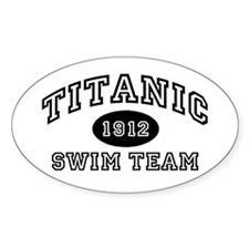 Titanic Swim Team Oval Sticker