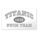 Titanic Swim Team Rectangle Decal