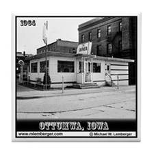 Diner -- Ottumwa, Iowa -- Tile Coaster