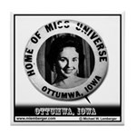 Miss Universe Button Tile Coaster