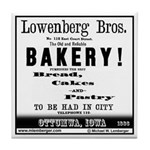 Lowenberg Brothers Bakery Tile Coaster