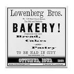 Lowenberg Brothers Bakery Tile Coaster