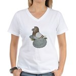 English Trumpeter Mealy Women's V-Neck T-Shirt