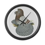 English Trumpeter Mealy Large Wall Clock