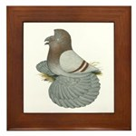 English Trumpeter Mealy Framed Tile