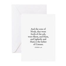 GENESIS  9:18 Greeting Cards (Pk of 10)