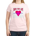 Swim for Life Women's Pink T-Shirt