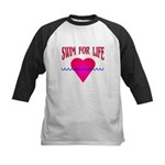 Swim for Life Kids Baseball Jersey