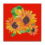 SUNFLOWER SPLASH/GIRASOL CHAPOTEO Tile Coaster