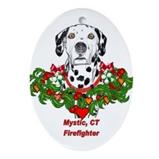 Firefighter Oval Ornament