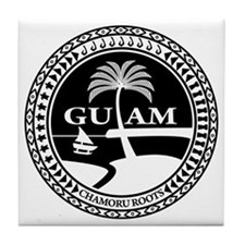 Cute Guam Tile Coaster
