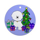 Bichon, Christmas Tree and Gifts Ornament
