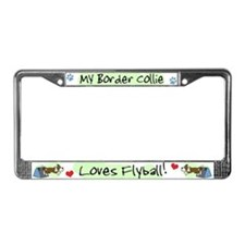 My Brown Border Collie Flyball License Plate Frame