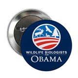 "Wildlife Biologists for Obama 2.25"" Button"