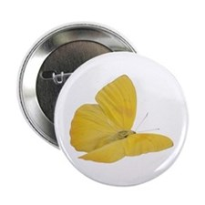 """Yellow Butterfly (Bug 7) 2.25"""" Button"""