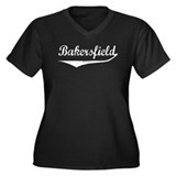 Bakersfield Women's Plus Size V-Neck Dark T-Shirt