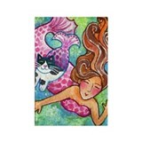 MERMAID &amp;amp; CATFISH No.1...Refrigerator Magnet