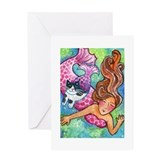 MERMAID &amp;amp; CATFISH No. 1...Purr-fect Day Card
