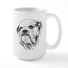 Drawn Head Large Mug