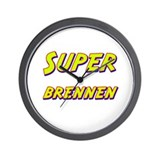 Super brennen Wall Clock