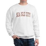 Sea Isle City New Jersey NJ Red Sweatshirt