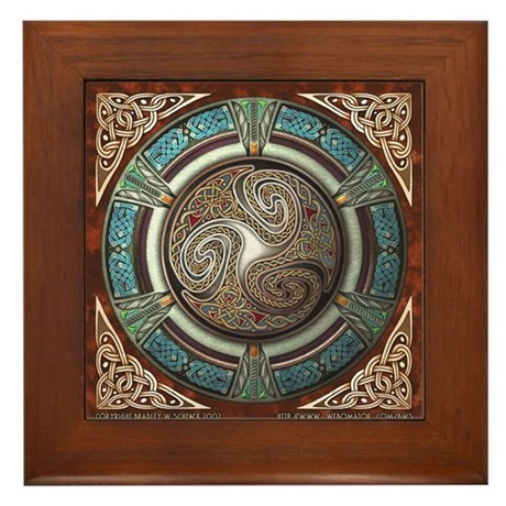 Triskelion Framed Tile
