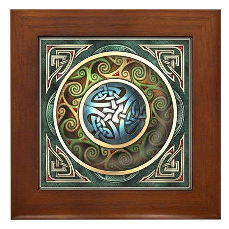 Celtic Knotwork Design Framed Tile