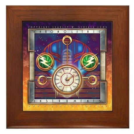 """Chronolithic Instruments"" Framed Tile"