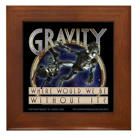 """Gravity"" Framed Tile"
