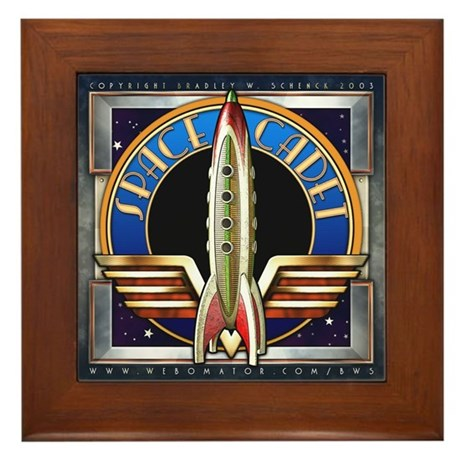 """Space Cadet"" Framed Tile"