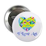 I LOVE ART Button