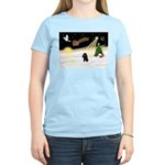 Night Flight/Poodle (Min) Women's Light T-Shirt