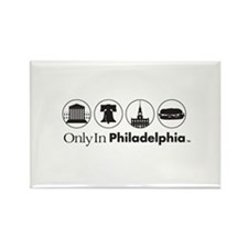 Only In Philadelphia - Icons Rectangle Magnet