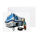 RV Flat Tire Greeting Card