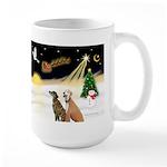 Night Flight/2 Greyhounds Large Mug