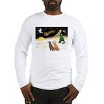 Night Flight/2 Greyhounds Long Sleeve T-Shirt