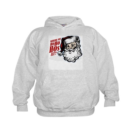 SANTA WHERE MY HOs AT? Kids Hoodie